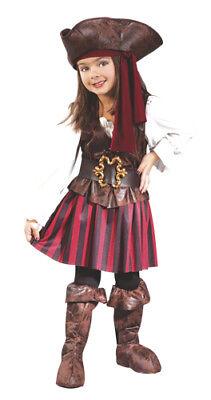 High Seas Buccaneer Girl Toddler Halloween Costume (Toddler Girl Pirate Costume)