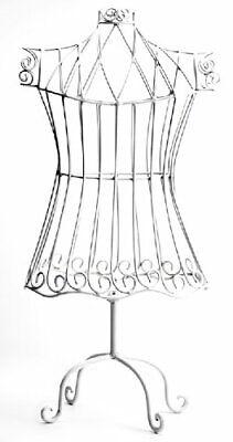 Manual Woodworker Rustic White Child Size Dress Form Mannequin Decorative Vinta