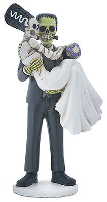 FRANKENSTEIN & BRIDE FIGURINE SKELETON HALLOWEEN WEDDING CAKE TOPPER.COOL! - Cool Halloween Cakes