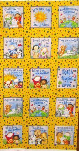 Childrens Quilt Panels Fabric Ebay