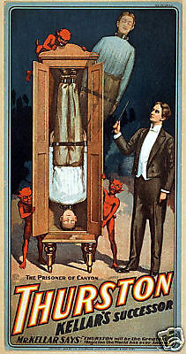 Vintage Repro Magicians Theatre Flyer - Thurston  ref#1