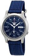 Mens Seiko Watch Blue Dial