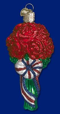 Patriotic Bouquet ornament ~ Old World Christmas 36029