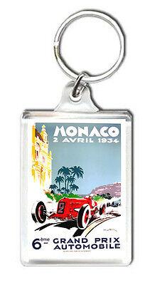 1934 MONACO GRAND PRIX MOTOR RACING KEYRING LLAVERO