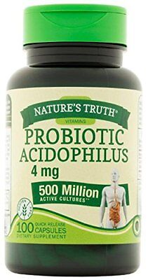 4 Pack Nature's Truth Probiotic Acidophilus 500 Million 1...