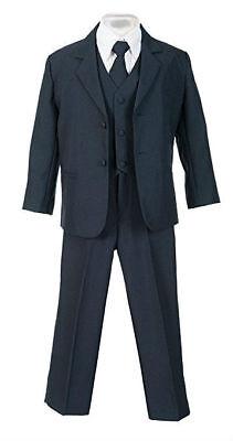 Jungen Anzug Marineblau Kinder Elegante Kleid Kleinkind Größe S-XL 2T-4T 5-18 ()