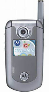 NEW MOTOROLA E815 GRAY SILVER ALLTEL CDMA CELLULAR PHONE SB