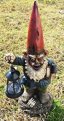 - Undead Zombie Walkers Gnome Carrying Lantern Garden LED Solar Light Figurine