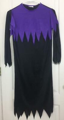 Pmg Halloween Costume (PMG Halloween Costume Child Black Purple Hooded Robe Phantom Sorcerer M)
