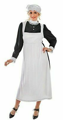 Ladies Victorian Maid Fancy Dress Costume Florence Nightingale - Victorian Maid Kostüme