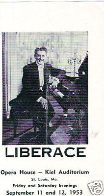 Liberace Program St Louis Mo 1953