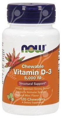 masticabile vitamina D-3 D3,5000iu x 120 compresse - ottimo per bambini