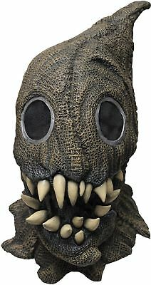 Sack Monster Adult Latex Mask Burlap Look Scarecrow Fangs Halloween Accessory - Sack Mask