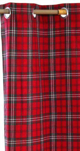 Tartan Ready Made Curtains Ebay