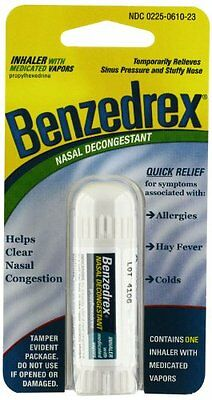 Benzedrex Nasal Decongestant Inhaler (Pack Of 3)