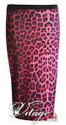 Pink Leopard Print Skirt