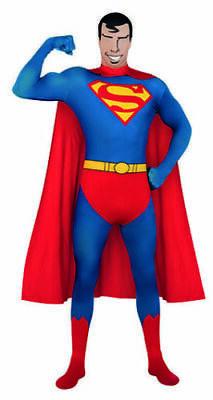 RUB 3880520 Superman 2nd Skin Kostüm Ganzkörperanzug Overall mit Cape und Haube