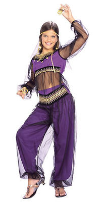 Halloween Princess Jasmine Costume (Princess Jasmine Child Costume New Girls Halloween Aladdin Size Medium)