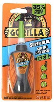 Gorilla Micro Precise Super Glue Gel 5.5 Gram Clear Pack Of 1 - 102177
