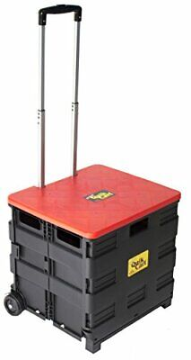 Dbest Products Quik Cart Wheeled Rolling Crate Teacher Utility With Seat Heavy D