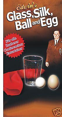 Trick Glas  Tuch -> Ball -> Ei !   Ein spitzen Trick !