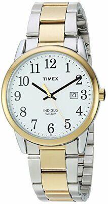 Timex Mens TW2R23500 Easy Reader TwoToneWhite Stainless Steel Bracelet Watch