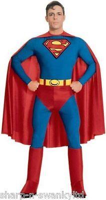 Herren Klassisch Superman Stretch Overall Body Kostüm Kleid Outfit - Klassische Superman Kostüm
