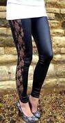 Lace Side Leggings