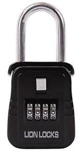 Lion Locks 1500 Key Storage Lock Box with Set Your Own Combination, Black