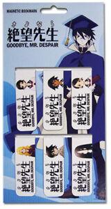 Bookmark - Sayonara, Zetsubou-Sensei - New Magnetic Set of 6 Licensed ge8575