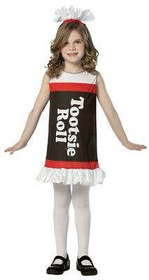 Tootsie Roll Child Costume (Child Tootsie Roll Costume Dress -)