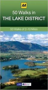 AA __ 50 WALKS IN THE LAKE DISTRICT __ BRAND NEW ___ 2017 REPRINT __ FREEPOST UK