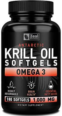 Pure Antarctic Krill Oil + Omega 3  3 Month Supply Omega 3
