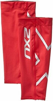 2XU Unisex Compression Calf Guard, Red/Red, Medium