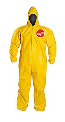 Dupont Tychem 2000 Qc127b Chemical Resistant Coverall With Hood And Storm Flap