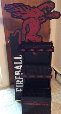 (L@@K) FIREBALL CINNAMON WHISKEY FIGURE SIGN BEER GAME ROOM MAN CAVE BAR RARE