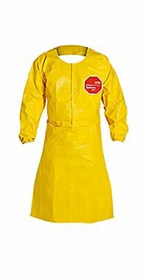 Dupont Tychem 2000 Qc275b 44-inch Sleeved Apron With Elastic Cuffs Neck Loop S