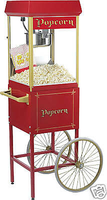 New Fun Pop 8 Oz Popcorn Popper And Wheeled Cart By Gold Medal