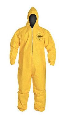 Dupont Tychem Tyvek Qc Qc127 Qc127s Chemical Hazmat Suit Ppe Large In Stock