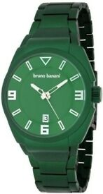 Bruno Banani Puya Mens Men's Watch PY4207107 Analogue Dark Green ! Bargain