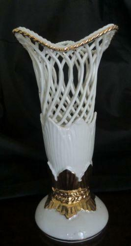 White Gold Vase Ebay