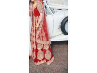 Mongas Manish Indian bridal / wedding dress - Malhotra inspired red and gold wedding dress