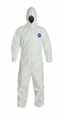 Dupont Tyvek Ty127s Disposable Coverall Bunny Suit Whood Elastic Wrists Ankles