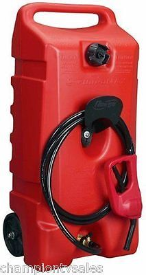 14 Gal Flo Ngo Duramax 06792 Red Portable Wheeled Gas Fuel Container 627366
