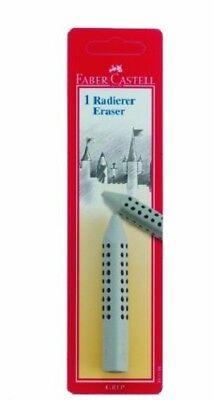 Faber-castell Grip Pencil Eraser Grey In A Blister Card