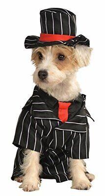 Mob Gangster Dog Costume - MEDIUM - Jacket/Tie, Hat - Halloween - Rubie's - NWT](Dog Gangster Costume)