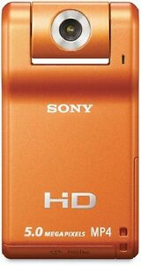 NEW-Sony Webbie MHS-PM1 HD Camcorder (Orange)