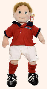 Footie the UK football Ty Beanie Bopper plush doll- UK exclusive