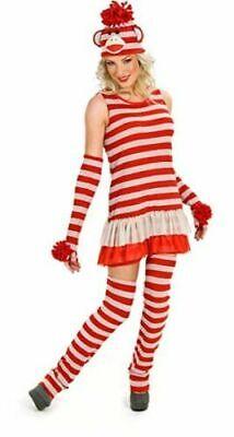 Sock Monkey Halloween Costume (Princess Paradise Sassy Sock Monkey Red & White Striped Halloween)