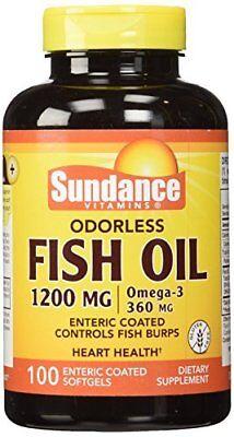 Sundance Odorless Fish Oil 1200 mg Omega-3 360 mg 100 Enteric Coated Softgels segunda mano  Embacar hacia Argentina
